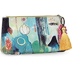 Papaya! Small Tassel Pouch, Flora Bird