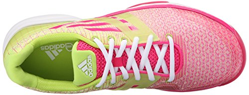 Adidas Performance Dames Adizero Attack W Tennisschoen Shock Pink / White / Semi Solar Slime