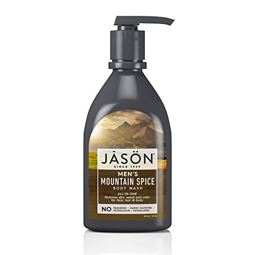 (JASON Men's Mountain Spice All-In-One Body Wash, 30 Ounce Bottle)