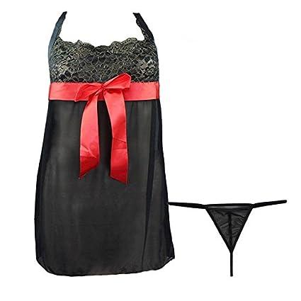Pijama de muneca con tanga - TOOGOO(R) pijamas atractivas de ropa interior de