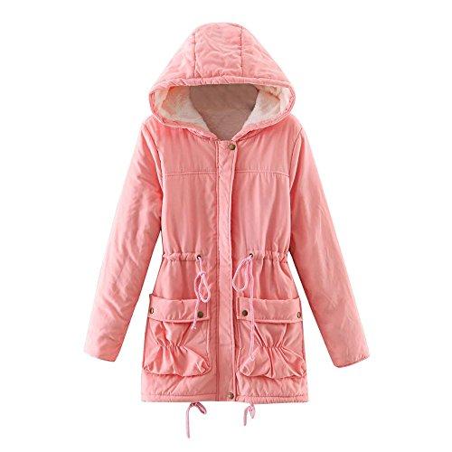Cheap Jacket Winter Warm Faux Fur Hooded Coat Cardigan Parka AfterSo Womens -