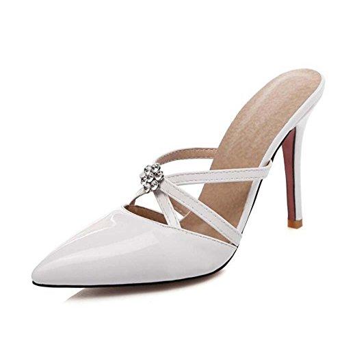Scarpe con alto Nero tacco Giallo Tacco Taglia 34 con a donna Bianco Rosa spillo Beige punta Bianca SHINIK 39 a cristalli Sandali Scarpe wY0qXqSxP