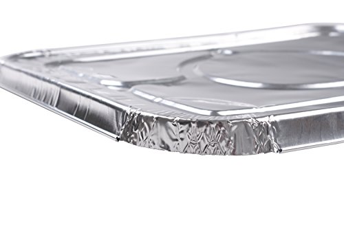 A World of Deals 9 X 13 Half Size Deep Foil Steam Pans with Lids, 30 Pack by A World Of Deals (Image #3)