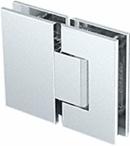 CRL Geneva 380 Series Brushed Nickel Adjustable 180176; Glass-to-Glass Hinge