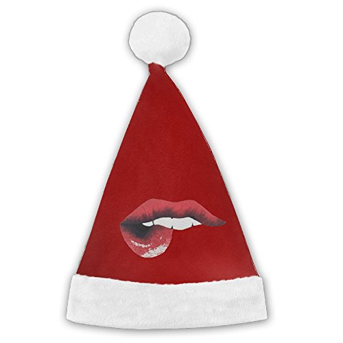 Chrihapy Asmlie Gossip Friend Girl Santa Hat Plush Christmas Hat Decorations For Kids And Adults Unique Gifts