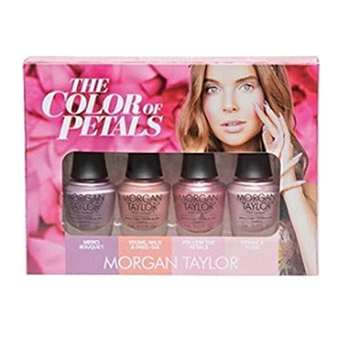 (Morgan Taylor - The Color of Petals Collection - Mini 4 pk - 5 mL / 0.17 oz Each)