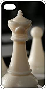 Ivory Chess Set White Plastic Case for Apple iPhone 5 or iPhone 5s