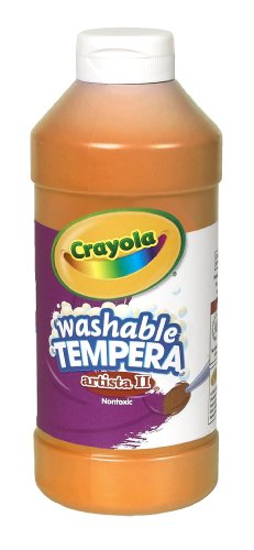 Crayola Artista II Washable Tempera Paint 16oz Orange