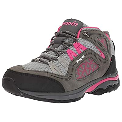 Propet Women's Peak Hiking Boot, Grey/Berry, 7 X-Wide | Hiking Shoes