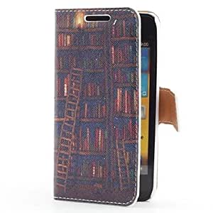 GHK - Book Shelf Style Leather Case with Card Slot and Stand for Samsung Galaxy S Advance i9070