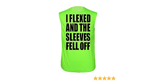 b8cbdbe4 Men's Dri Fit I Flexed and the Sleeves Fell Off! NEON GREEN SLEEVELES SHIRT  (Med) at Amazon Men's Clothing store: