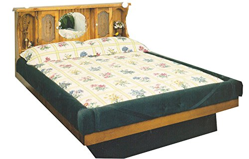 Pine Waterbeds (Strobel Organic Providence Complete Waterbed Premium Solid White Pine Oak Finish King)