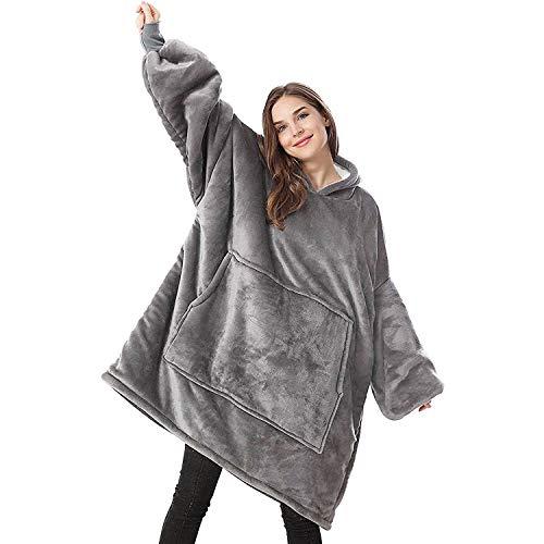 Lushforest Hoodie Sweatshirt Deken,Oversized Super Zachte Warme Comfortabele Giant Hoody, Fit voor Volwassenen Mannen…