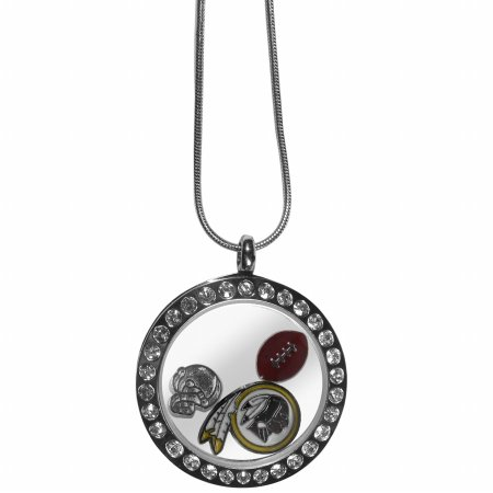 NFL Washington Redskins Womens Locket Necklace, Metal, (Washington Redskins Nfl Starter)