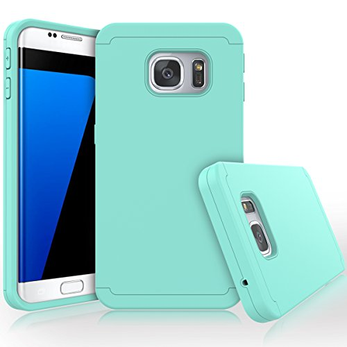 Shockproof Hard TPU Case for Samsung Galaxy S7 Edge (Hot Pink/Blue) - 5