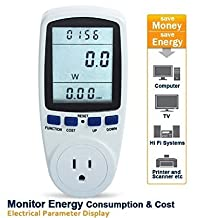 RioRand Plug Power Meter Energy Watt Voltage Amps Meter with Electricity Usage Monitor, Reduce Your Energy Costs