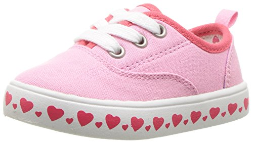 (Carter's Girls' Austina Casual Sneaker, Pink, 9 M US Toddler)