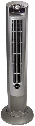 Silver Bedroom and Home Office Use Timer and Remote Control for Indoor Lasko 2551 Portable Electric 42 Oscillating Tower Fan with Fresh Air Ionizer