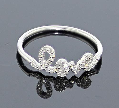 Love Ring White Gold 1 5ctw 10K White Gold real diamonds Valentines day size 7 i2 i3, i j