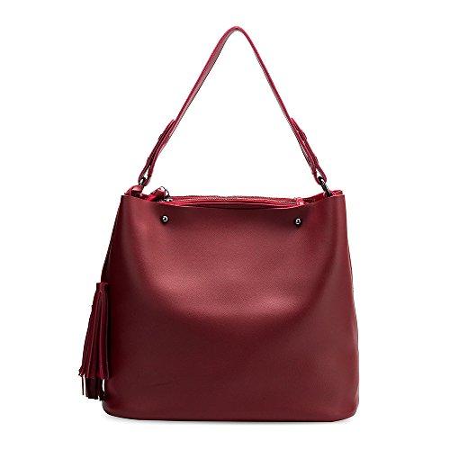 Melie Bianco Handbag Tote (Melie Bianco Niccola Shoulder Bag Vegan Leather Tote Handbag - Wine)