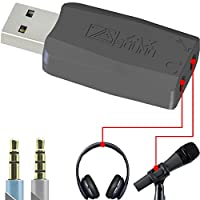 USB External Sound Card for Windows, Mac, Raspberry Pi and Linux, to be Used with Headphones and Microphones, Low White Noise with Mic Boost, Plug and Play No Drivers Needed.