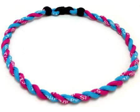 Double Titanium Necklace (Pink/Light Blue, 22 inch)