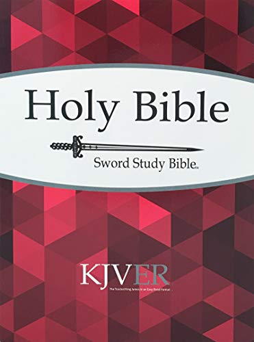 KJVER Sword Study Bible Personal Size Large Print Softcover: King James Version Easy Read ()