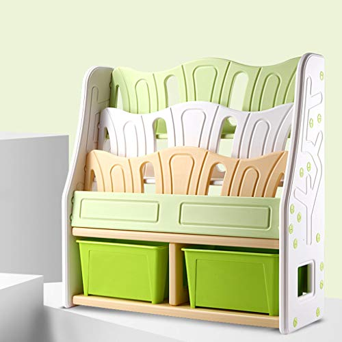WCJ Children's Bookshelf Simple Modern Bookshelf Multi-Function Lockers Children's Toys Storage Rack Combination Bookcase