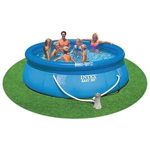 intex 12 39 x 36 easy set swimming pool set w. Black Bedroom Furniture Sets. Home Design Ideas