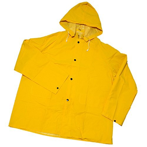 Pvc Over Polyester (West Chester 4036 L Rainwear 35 mil PVC over Polyester Jacket, Large, Yellow)