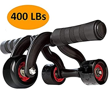 KANSOON Ab Wheel Fitness Equipment – 3 4 Wheels Innovative Ergonomic Abdominal Roller Carving System – Home Gym Boxing Exercise Workout Equipment