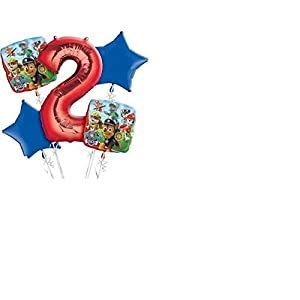 PAW Patrol 2nd Birthday Balloon Bouquet 5pc by Amscan