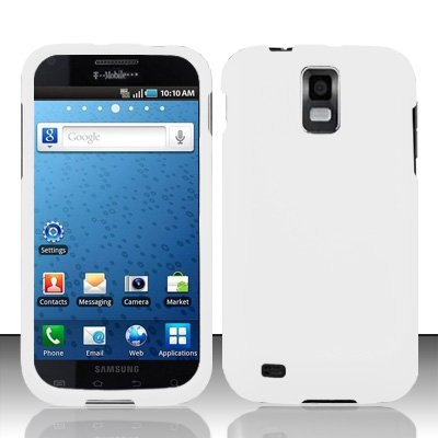 Importer520 Rubberized Snap-On Hard Skin Protector Case Cover for For (T-Mobile) Samsung Hercules T989 Galaxy S2 - White