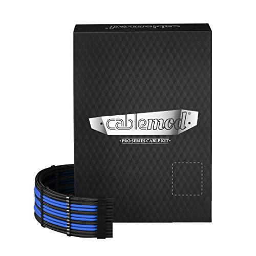 - CableMod RT-Series PRO ModMesh Cable Kit for ASUS and Seasonic - Black/Blue [cm-PRTS-FKIT-NKKB-R]