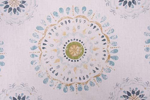 Robert Allen Color Wheel Crypton Printed Cotton Decorator Fabric in Rain -