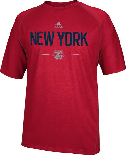 New York Red Bulls Red Climalite Authentic Practice T Shirt by Adidas (XX-Large)