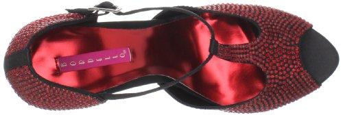 Red Women's Pleaser Pump Peep 01 Violette Rhinestones Toe Ydvdqx