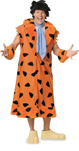 The Flintstones, Fred Flintstone, Adult Plus Size Costume With Wig And Shoe Covers,Leopard, (Plus Size Mens Halloween Costumes)