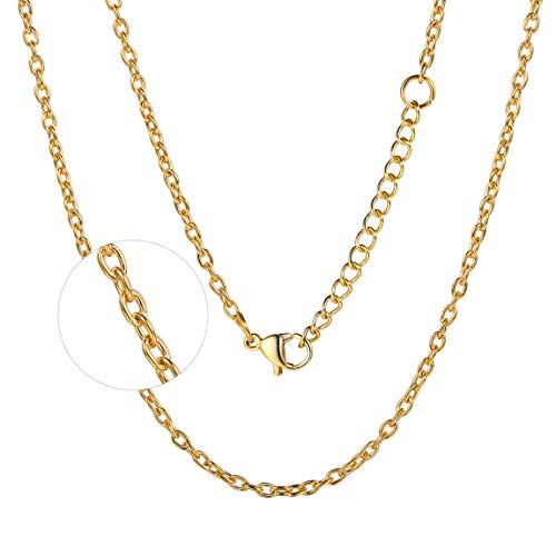 - Gold Filled Necklace Fashion Jewelry Rolo O Chain 2mm Necklace 18 inch Pendant Chain