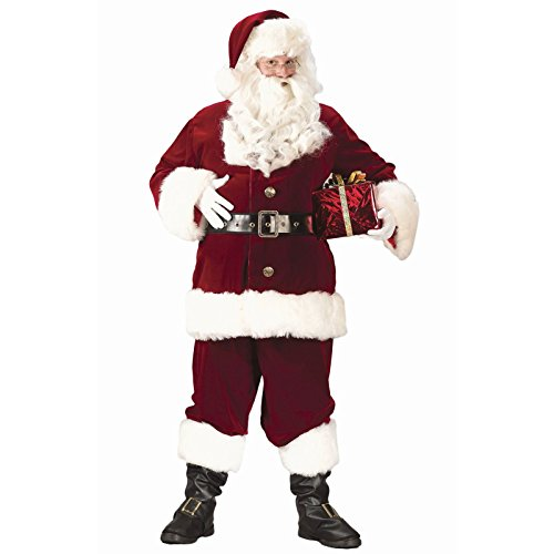 Plus Deluxe Santa Suit (Fun World Costumes Men's Plus-Size Super Deluxe Santa Suit, Red/White, XX-Large)