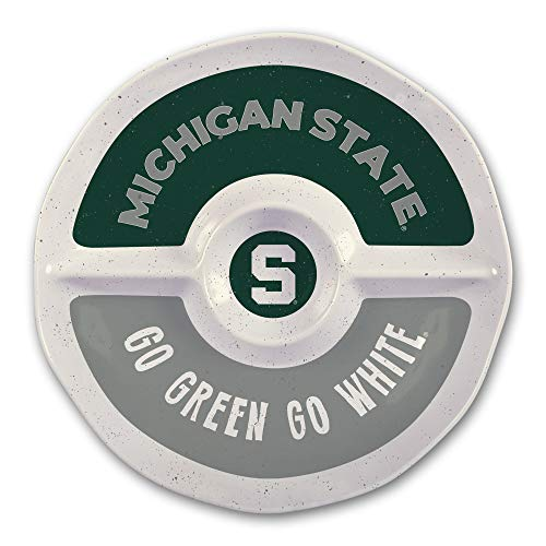(Michigan State University Heavy Weight Melamine Divided Tray)