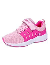 Luyosn Kids Sneakers Girls Breathable Light Mesh Sport Shoes Running Shoes for Boys Black Blue Pink Little Kid/Big Kid