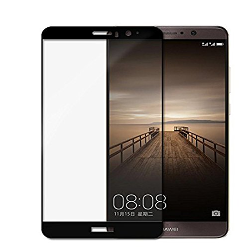 Huawei Mate 9 Screen Protector [Tempered Glass] [Full Coverage] [Colored Edge],Pabrito [3D Full Curved Edge] [No Bubble] Ultra Clear 9H Hardness Scratch Proof Protective Filmfor Huawei Mate 9