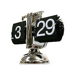 MCC Flip Clock Art Steampunk Retro Automatic balancing for home decoration and Europe style clock desktop clock , black