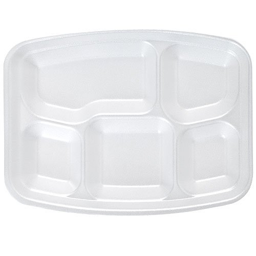 ... Compartment Divided Lunch Tray Dinner Plate Appetizer Platter Rectangular 9u201d X 12u201d u2013 20 Count 12 customer reviews  sc 1 st  2DayDeliver & White Foam Fast Food Tray 5 Compartment Divided Lunch Tray Dinner ...
