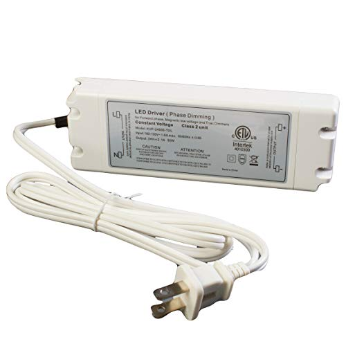 LEDUPDATES 24v 2.1A Triac Dimmable driver 50w LED Light Power Supply for Standard Wall AC Dimmers ETL LISTED by LEDUPDATES