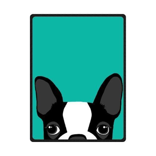Fashion Press Creative Blanket Boston Terrier Art 50 x 60 Inch Fleece Blanket Sheet Throw Bedding Blanket Fleece Throw Blanket Baby Blanket Travel Blanket Indoor / Outdoor ()