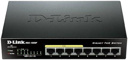 D-Link DGS 1008P Commutateur non géré 8 x 10/100/1000 Ordinateur de bureau PoE