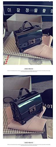 signore delle lembo della PVC crossbody messenger Nero mass del borsa mini tracolla borsa Lunghezza borsa Verde di Mini elaborazione qualità Pnizun gelatina buona cuoio Consiglia moda borsa a dell'unità xcvOPt