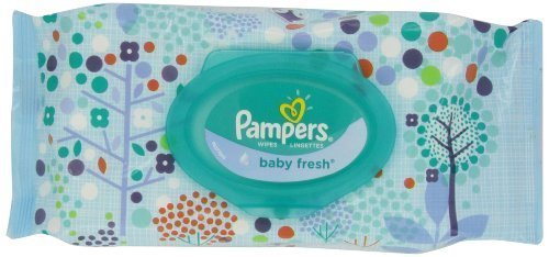 Pampers Baby Fresh Wipes Travel Pack, 64 Count (Pack of 8)